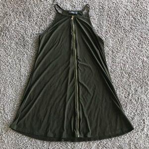 Pinc Olive Green Flowy Dress Size L